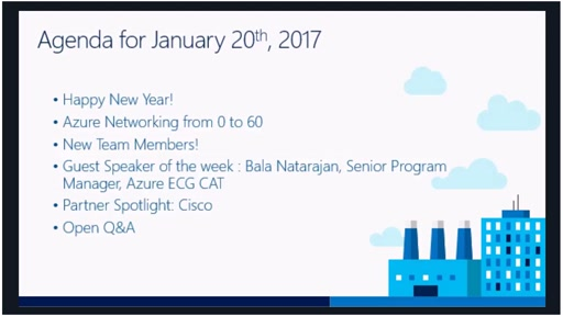 Azure Networking Fridays 1/20/2017