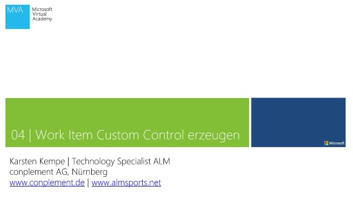 04 | Work Item Custom Control erzeugen