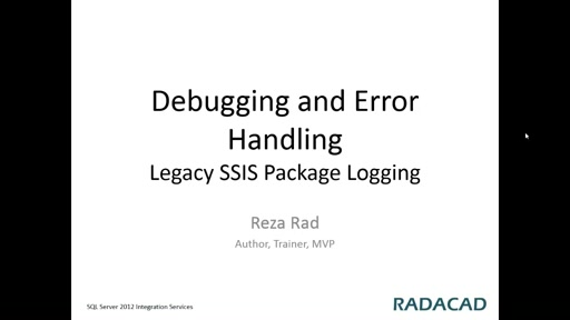 Legacy SSIS Package Logging
