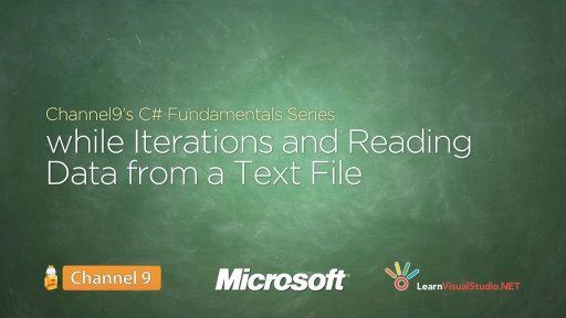 while Iterations and Reading Data from a Text File - 11