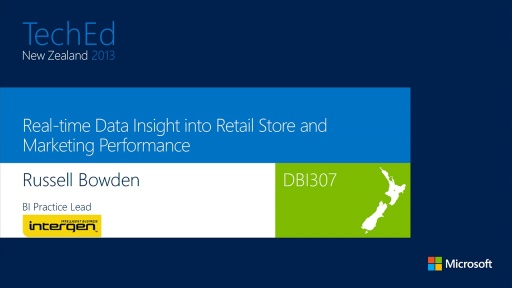 Real-time Data Insight into Retail Store and Marketing Performance.