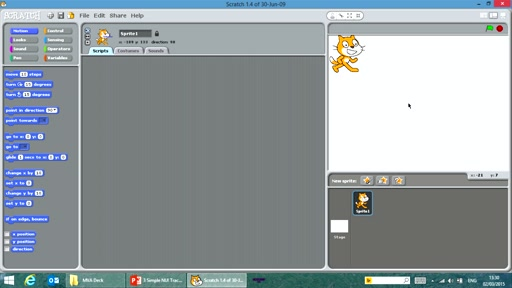 Coding for Kinect with Scratch: (03) Simple NUI Tracking Your Hand