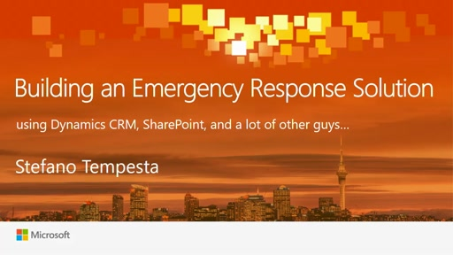 Building an Emergency Response Solution using Dynamics CRM,  SharePoint, and BizTalk Server