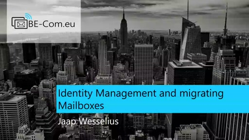 BE-COM2017-O365 Identity Management and Migrating Mailboxes (Michael Van Horenbeeck)