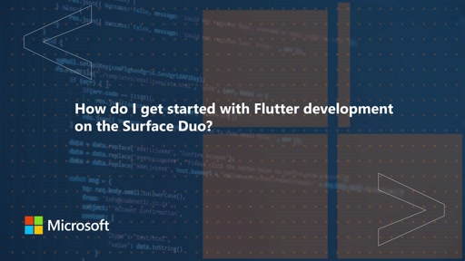 How do I get started with Flutter development on the Surface Duo | One Dev Question