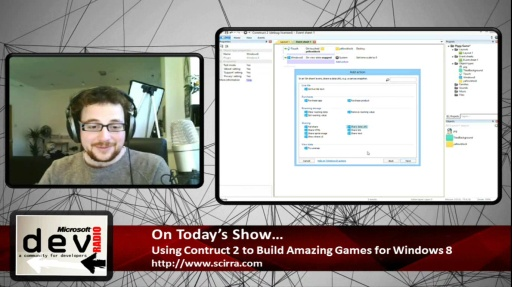 Microsoft DevRadio: Using Construct 2 to Build Amazing Games for Windows 8