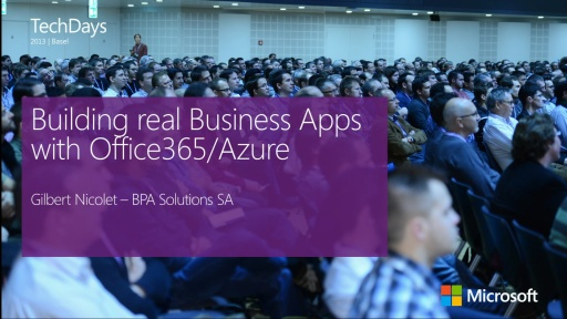 Building real Business Apps with Office365/Azure (e)