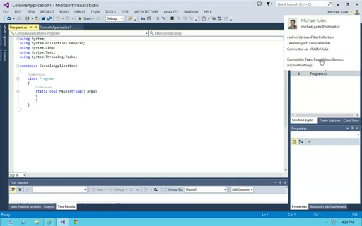 VS 2013 (8.) - Connected IDE
