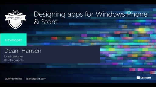 Design apps for Windows Phone and Windows Store – for developers