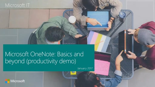 Microsoft OneNote: Basics and beyond (productivity demo)