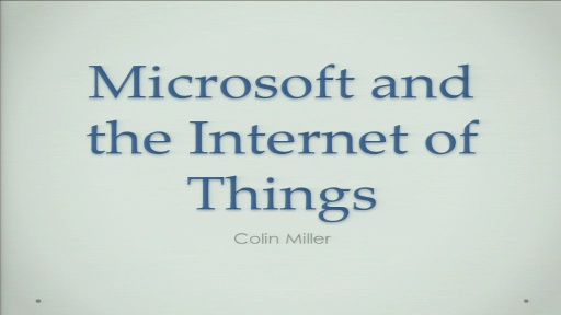 Microsoft and the Internet of Things