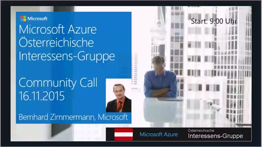 Azure Community Call - November 2015