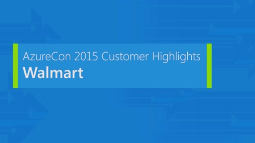 Walmart on Microsoft Azure