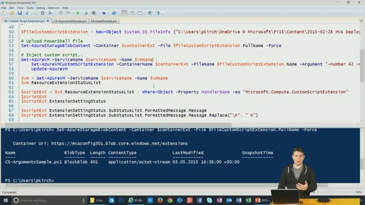 Teil 3: Custom Scripts via Azure Extensions
