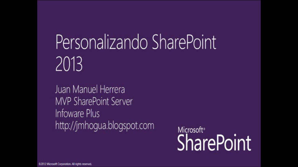 Customización de Sharepoint (Webparts / Customización de UI)