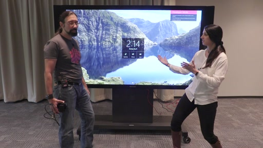 Dr. Neil and Golnaz show YOU how to use the Surface Hub