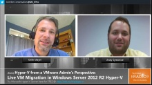 TechNet Radio: (Part 2) Hyper-V from a VMware Admin's Perspective - Live VM Migration in Windows Server 2012 R2 Hyper-V