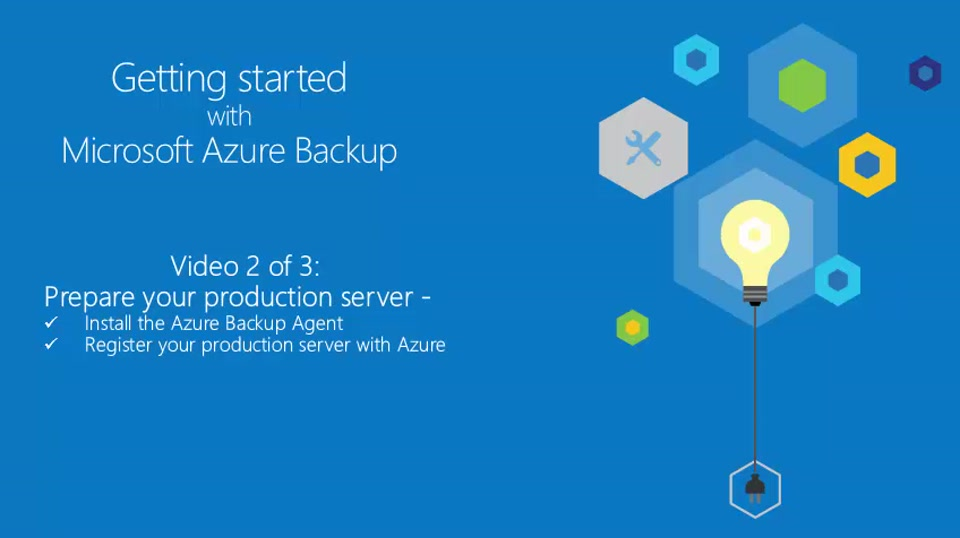 Getting Started with Azure Backup 2 of 3 - Prepare your production server for Azure Backup