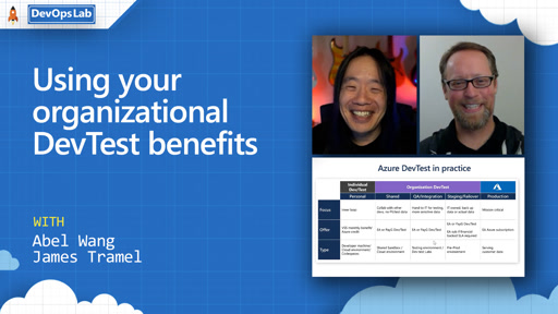 Using your organizational DevTest benefits