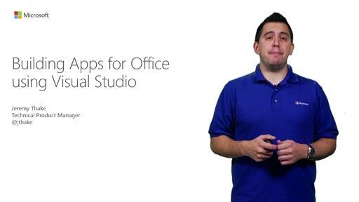 Building Apps for Office Using Visual Studio
