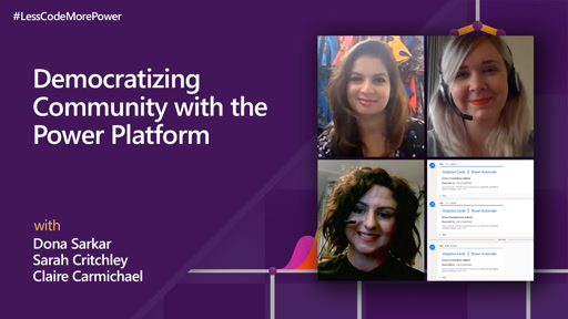 Democratizing Community with the Power Platform