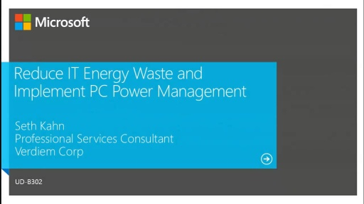 Reduce IT Energy Waste and Implement PC Power Management