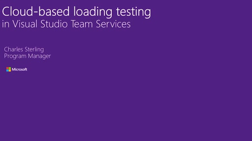 Cloud Loading Testing in Visual Studio Team Services