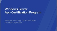 Windows Server App Certification Program