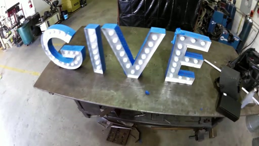 GIVE Sign Construction Fast Forward