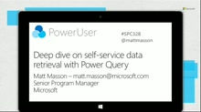Deep dive on self-service data retrieval With Power Query