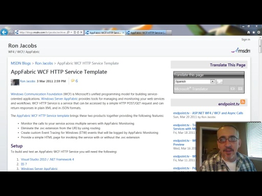 endpoint.tv - AppFabric WCF HTTP Template