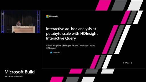 Interactive ad-hoc analysis at petabyte scale with HDInsight Interactive Query