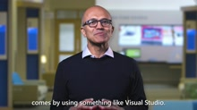 Microsoft CEO Satya Nadella Visual Studio 2017 launch event greeting