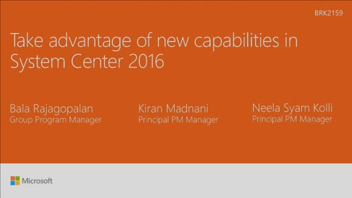 Take advantage of new capabilities in System Center 2016
