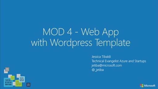 04 // Creare Web App con il template di Wordpress