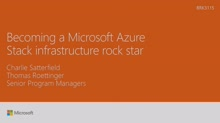 Become a Microsoft Azure Stack infrastructure rockstar