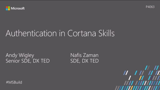 Authentication in Cortana Skills