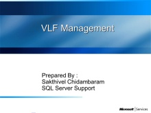 what are Virtual log files - VLF in SQL server - video