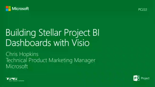 Building Stellar Project BI Dashboards with Visio