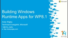 Building Windows Store apps for Windows Phone 8.1