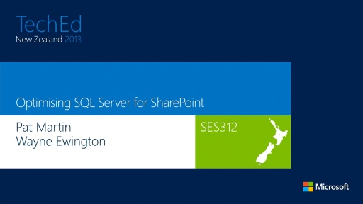 Optimising SQL Server for SharePoint
