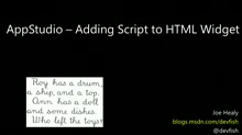 AppStudio - How to Add Script to the HTML Widget