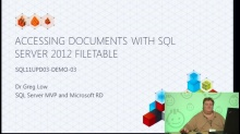 Demo: Accessing Documents With SQL Server 2012 FileTable