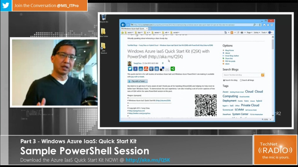 TechNet Radio: (Part 3) Windows Azure IaaS Quick Start Kit - Sample PowerShell Session