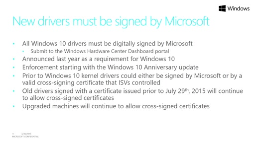 Driver Certification on Windows Client and Server