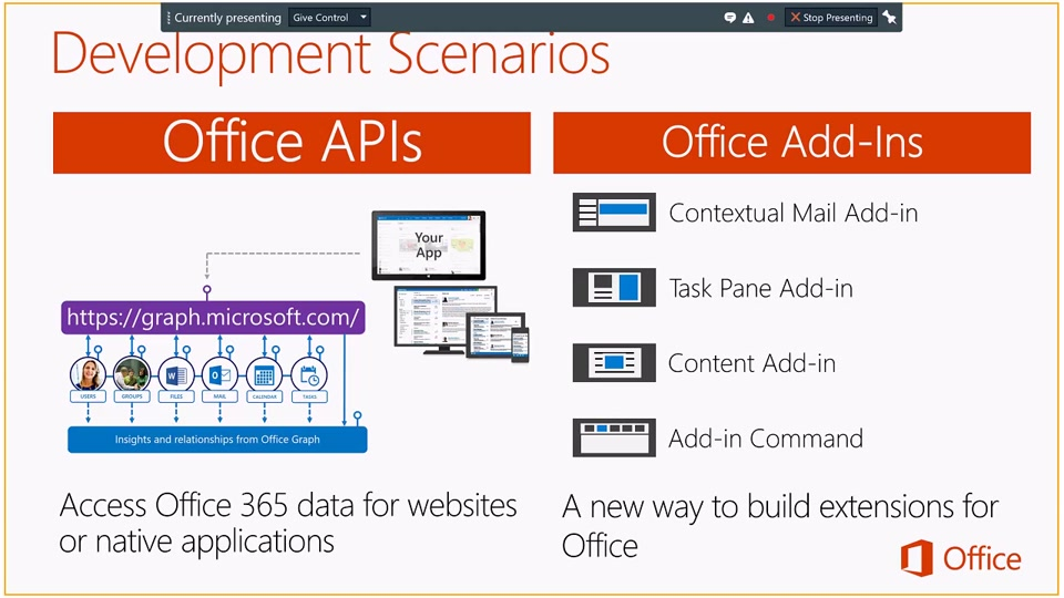 getting started with the office 365 api