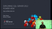 Presentation: Exploring SQL Server 2012 Power View