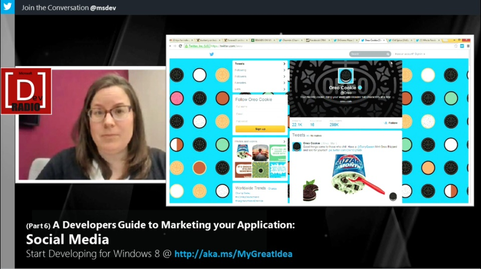 Microsoft DevRadio: (Part 6) A Developers Guide to Marketing Your App - Social Media