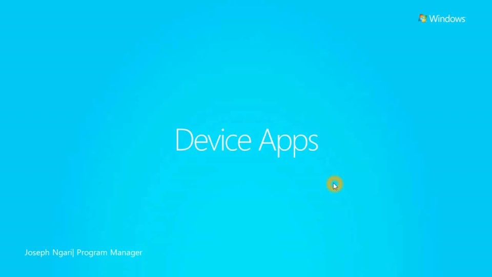 Windows Store Device Applications in Windows 8