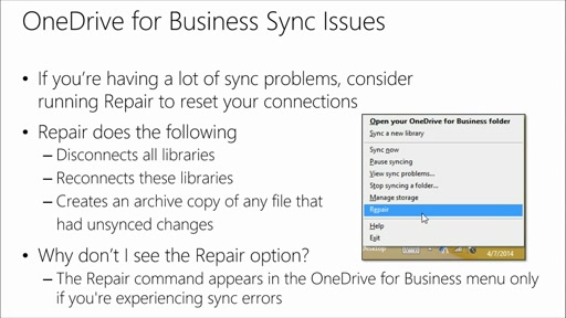 Collaborating Office 365 with OneDrive for Business: (01) What is OneDrive for Business and Syncing SharePoint Libraries​?
